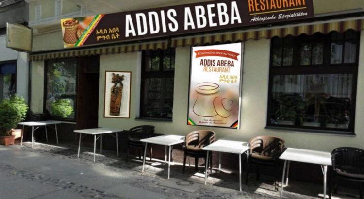 Äthiopisches Restaurant Addis Abeba Berlin Straßenblick