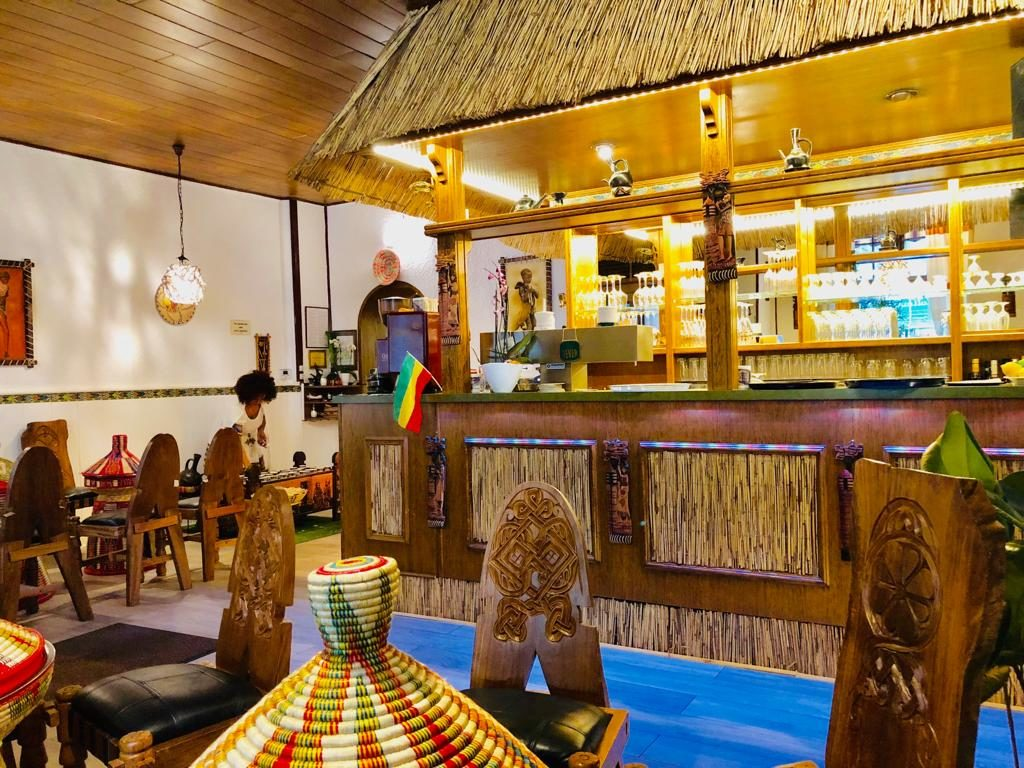 Addis Abeba Restaurant Berlin Innen